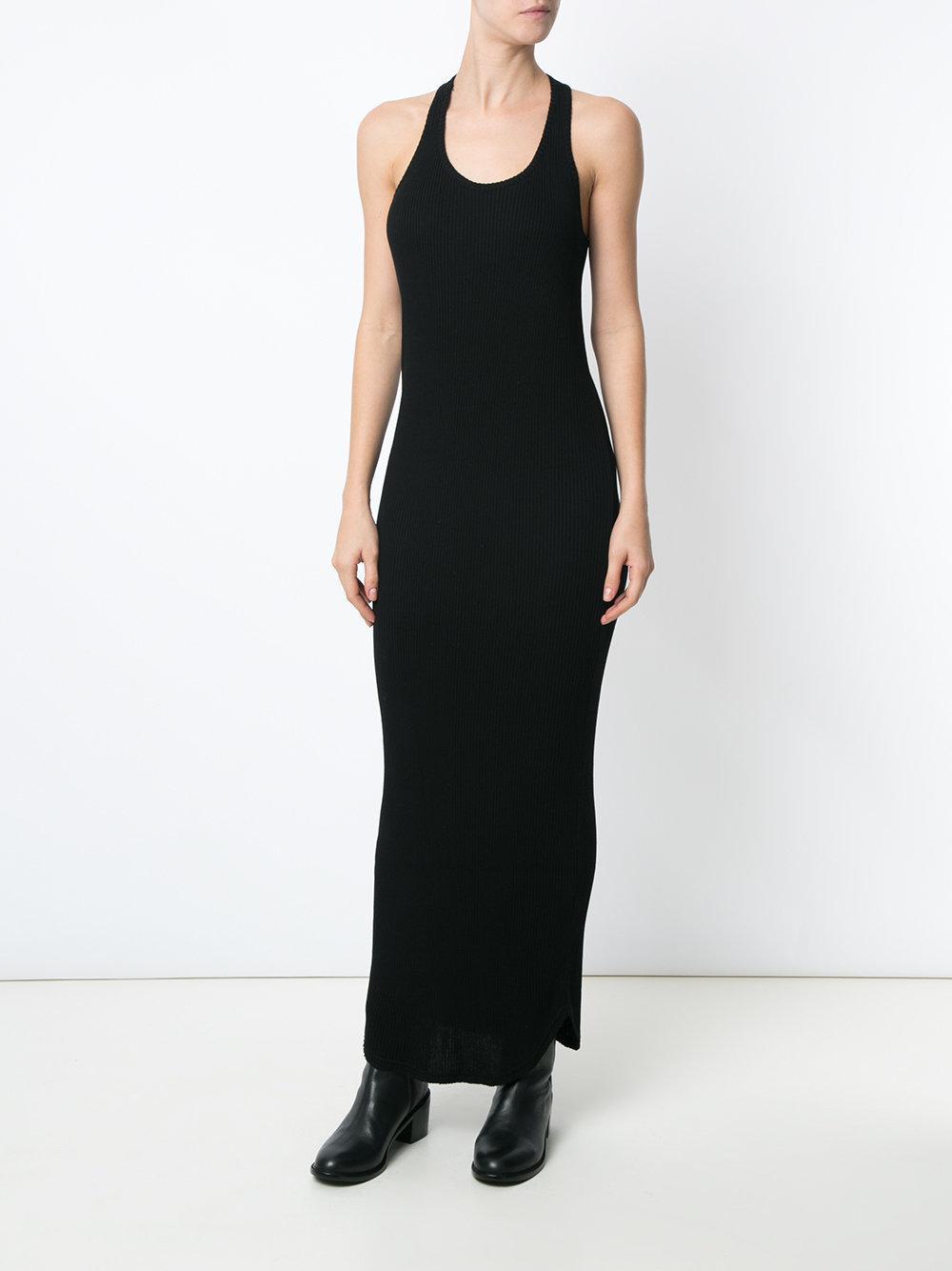 ribbed maxi dress - Black Uma Rymmf