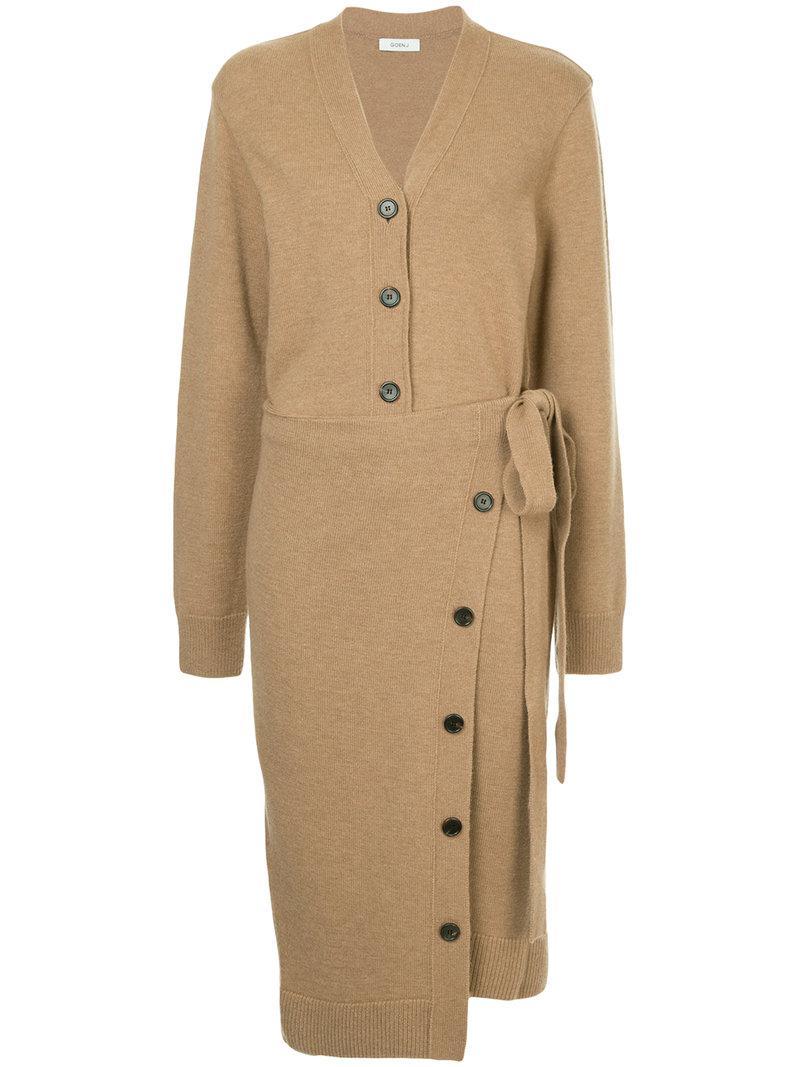 Goen.J long wrap cardi-coat Cheap Footlocker Finishline WgkkyX