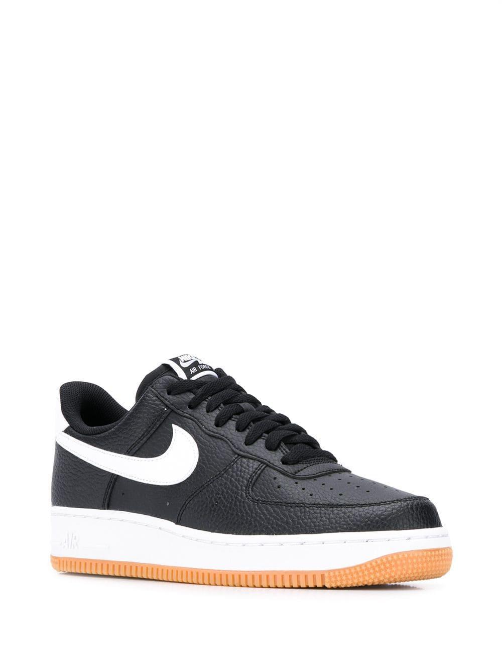 Zapatillas Air Force 1 Nike de Cuero de color Negro
