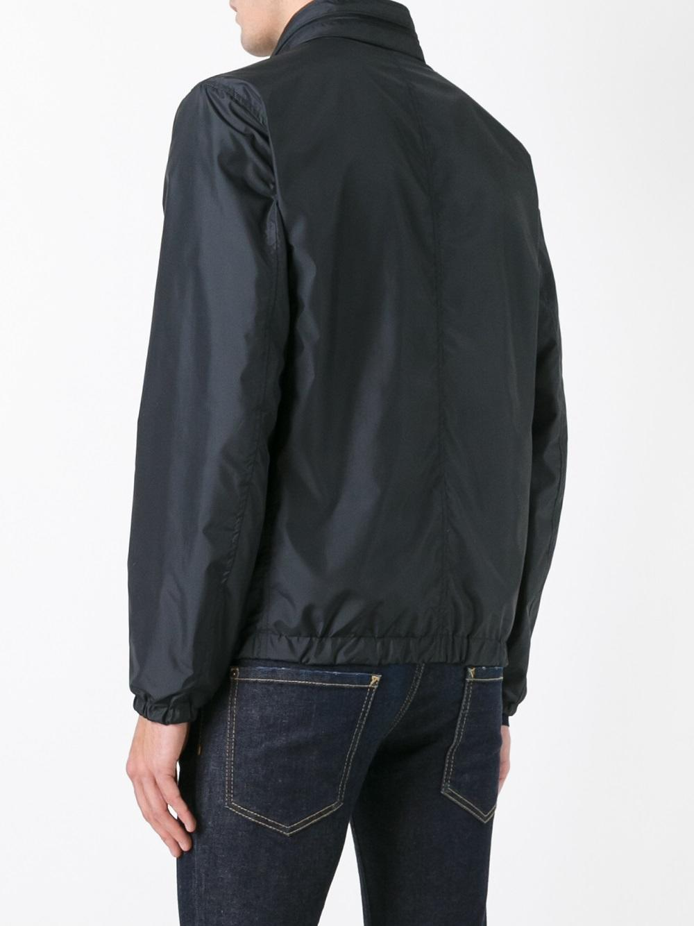 Ferragamo Band Collar Double-sided Jacket in Blue for Men