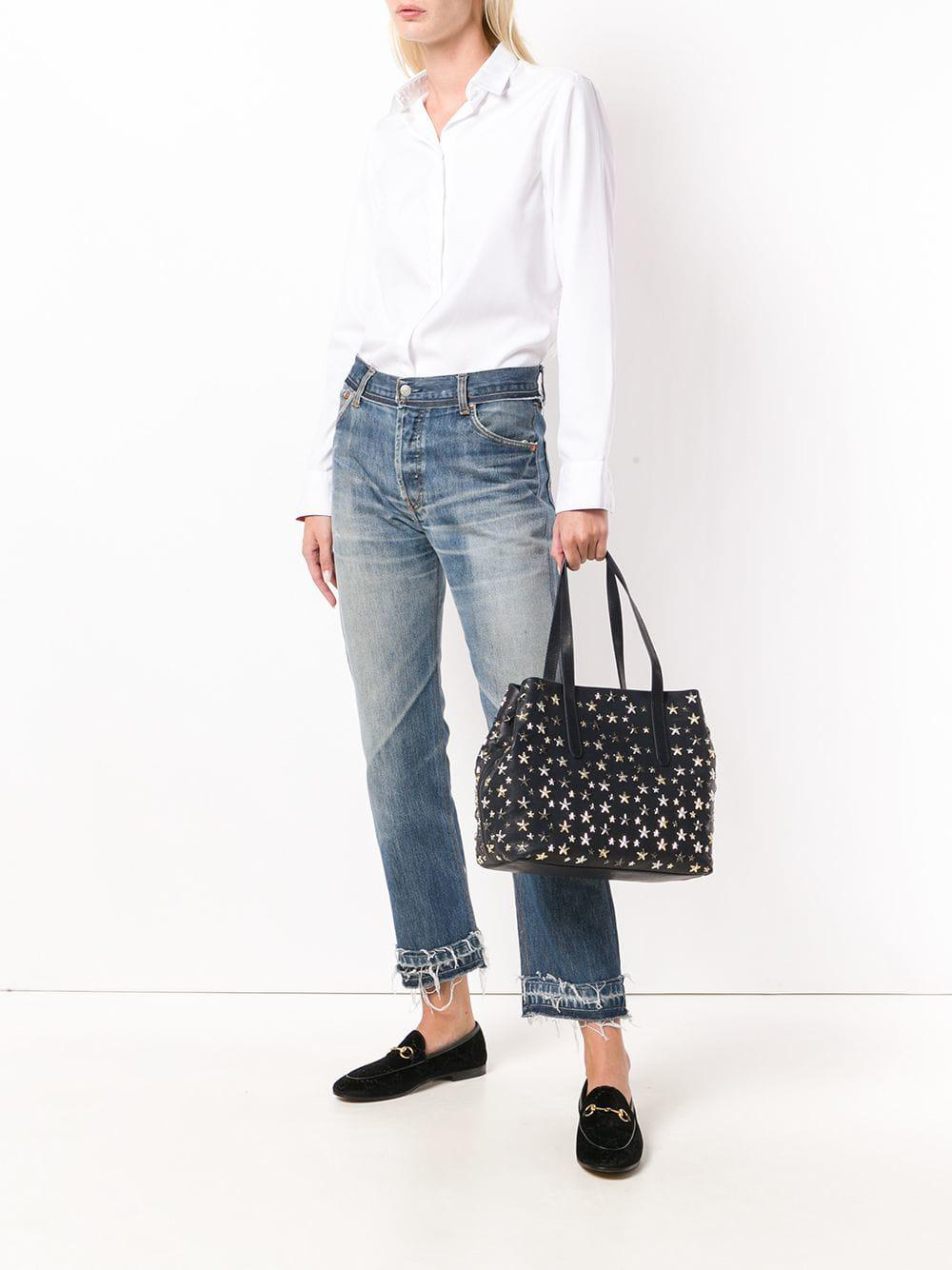 Jimmy Choo Leather Sofia Tote in Blue