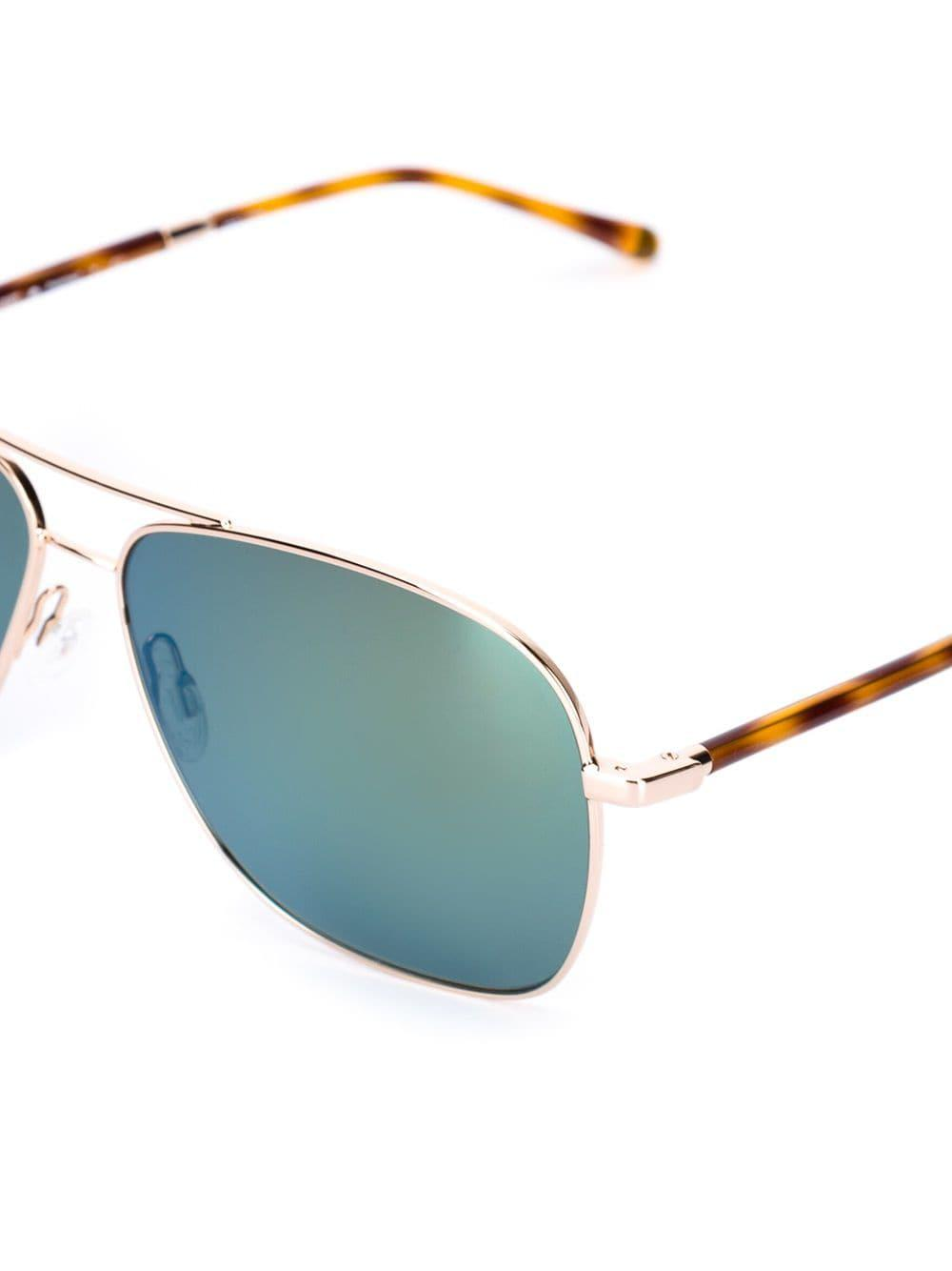 Oliver Peoples Strummer Sunglasses in Metallic (Blue)