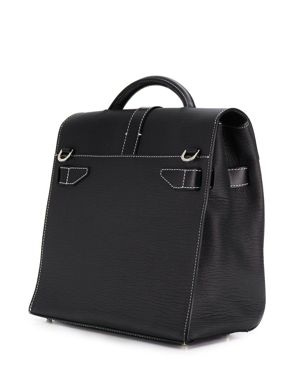1017 ALYX 9SM Leder Handtasche mit Schnallen in Schwarz gUK0H