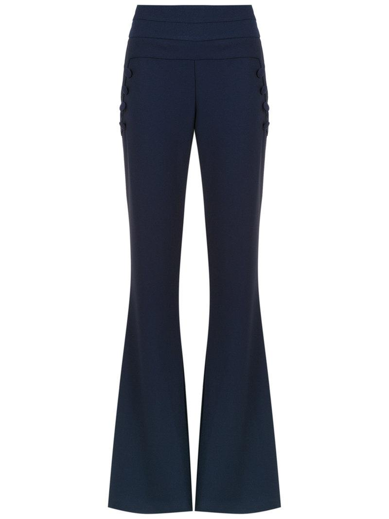 Buy Cheap View Valle Sagrado flared trousers - Blue OLYMPIAH Free Shipping Reliable Quality From China Wholesale EZUIoc