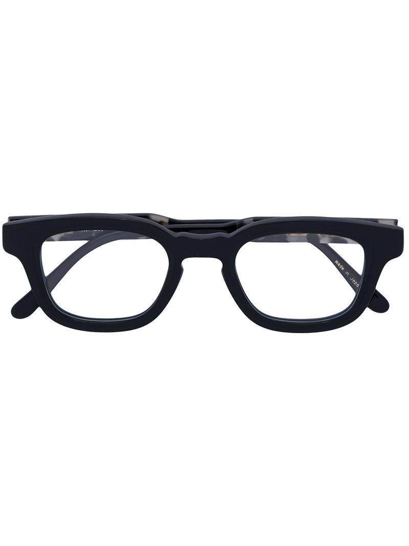 e53a111fbf Lyst - Eyevan 7285 Thick Square Frame Glasses in Black