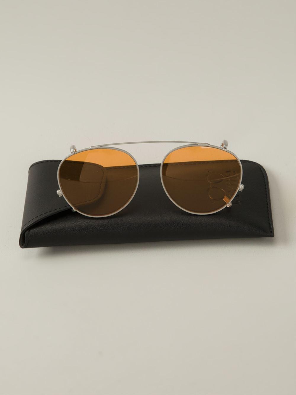 Kyme 'clip On Miki' Sunglasses in Yellow & Orange (Metallic)
