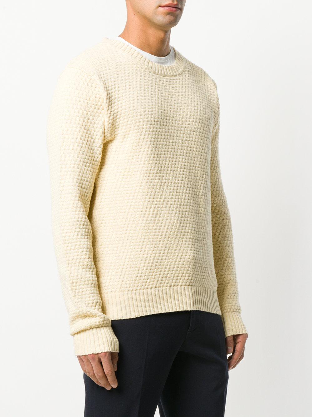 Gant Rugger Cotton The Tuck Knit Jumper in Natural for Men