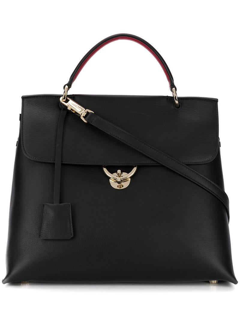 6be61862c302 Lyst - Ferragamo Top Handle Bag in Black