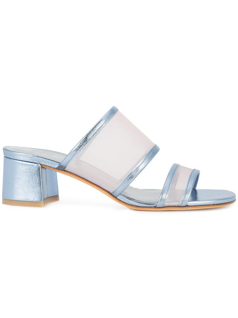 Pure Sandales Panneau De Maille - Bleu Nassir Zadeh Maryam BK61Gz