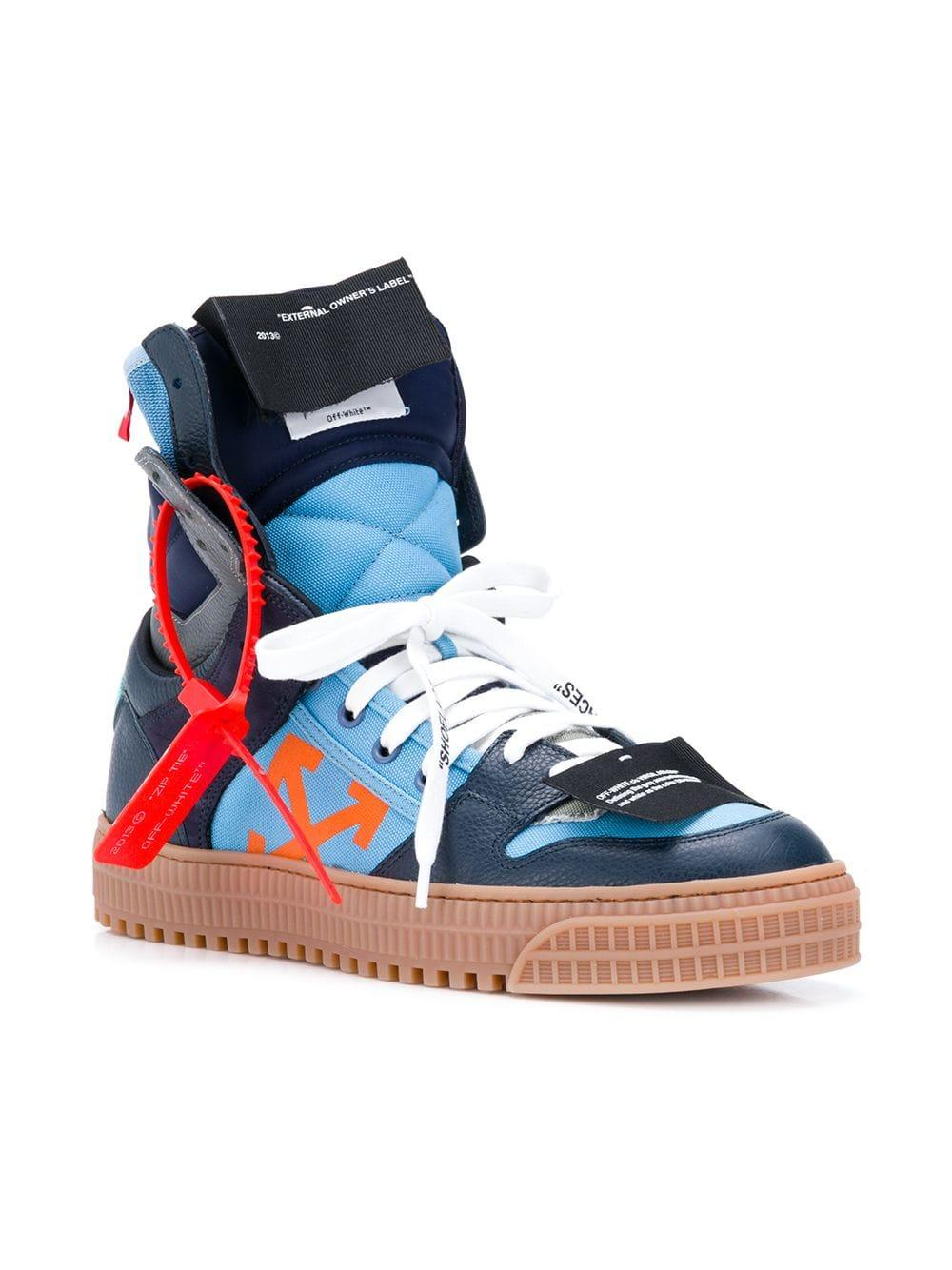 a84cf7c1cbb0ce Off-White c/o Virgil Abloh Men's Off Court Suede/leather High-top Sneakers  in Blue for Men - Save 23.57142857142857% - Lyst