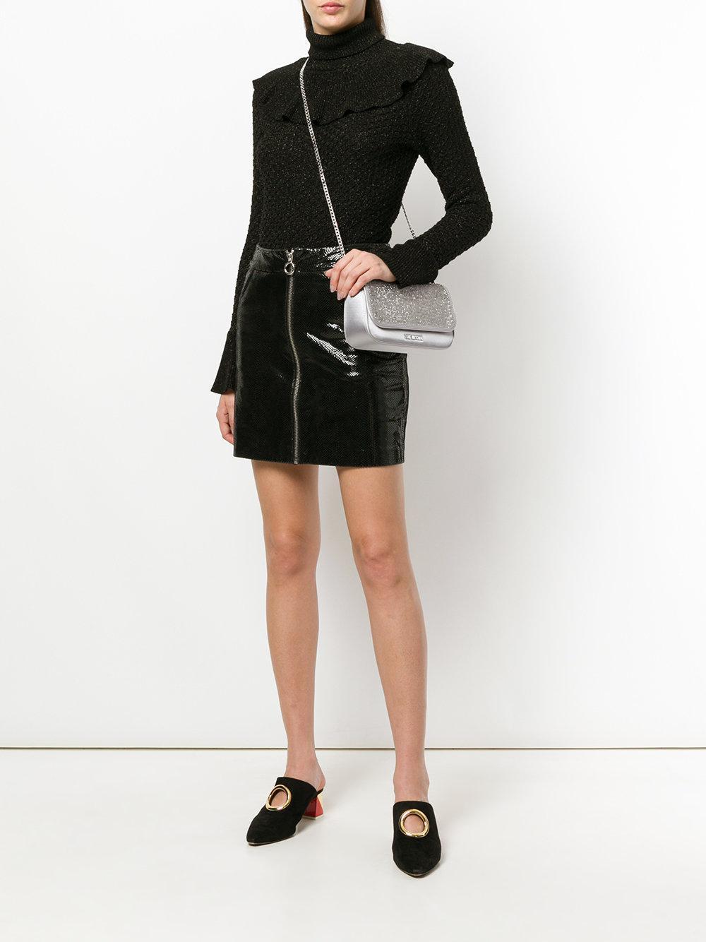 Love Moschino Satin Studded Cross-body Bag in Grey (Grey)