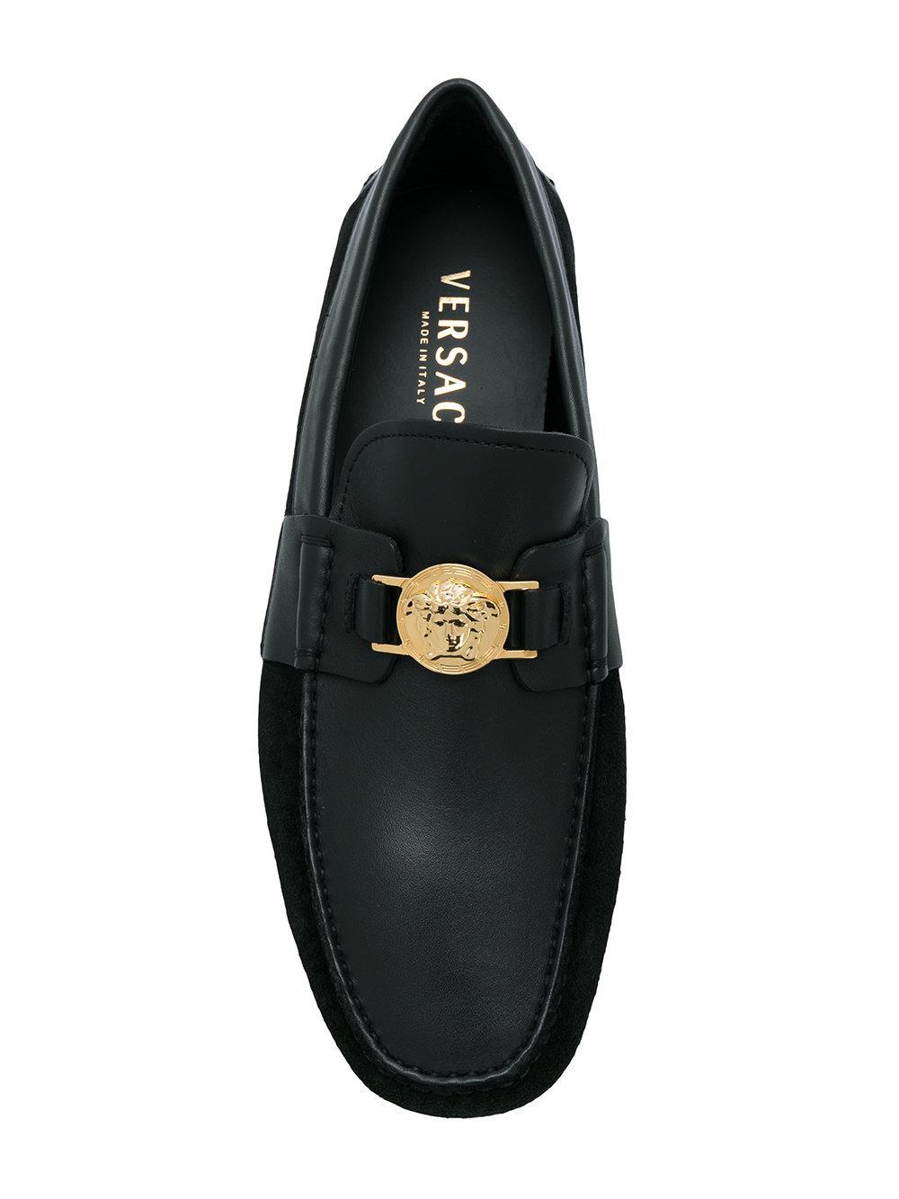 embellished Medusa loafers - Black Versace 0VlJxp