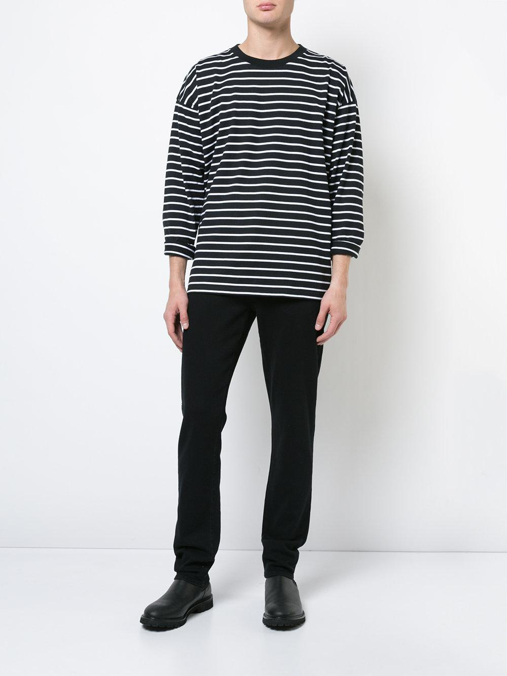 7 For All Mankind Denim Adrien Slim Fit Jeans in Black for Men