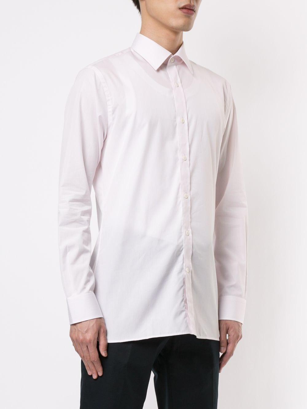 Gieves & Hawkes Katoen Gestreept Overhemd in het Roze voor heren