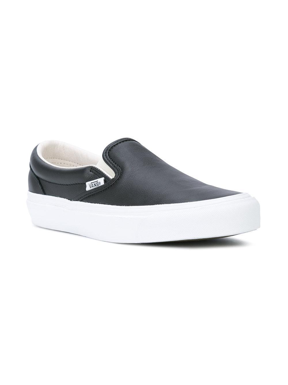 856e788b644 Vans - Black Vault Og Classic Slip On Lx Sneakers for Men - Lyst. View  fullscreen