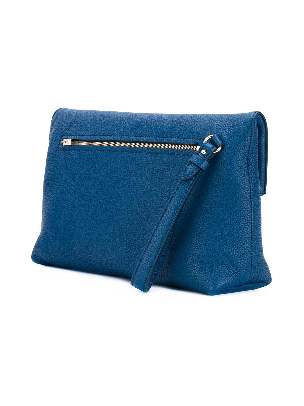 7ef4b25bbdb4 Lyst - Ferragamo Gancio Clutch Bag in Blue