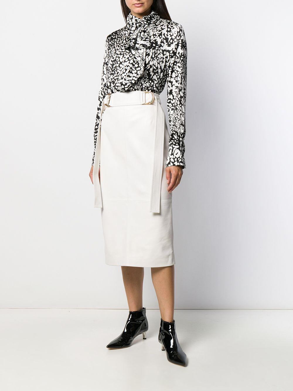 Blusa con estampado abstracto y cuello alto ESCADA de color Negro