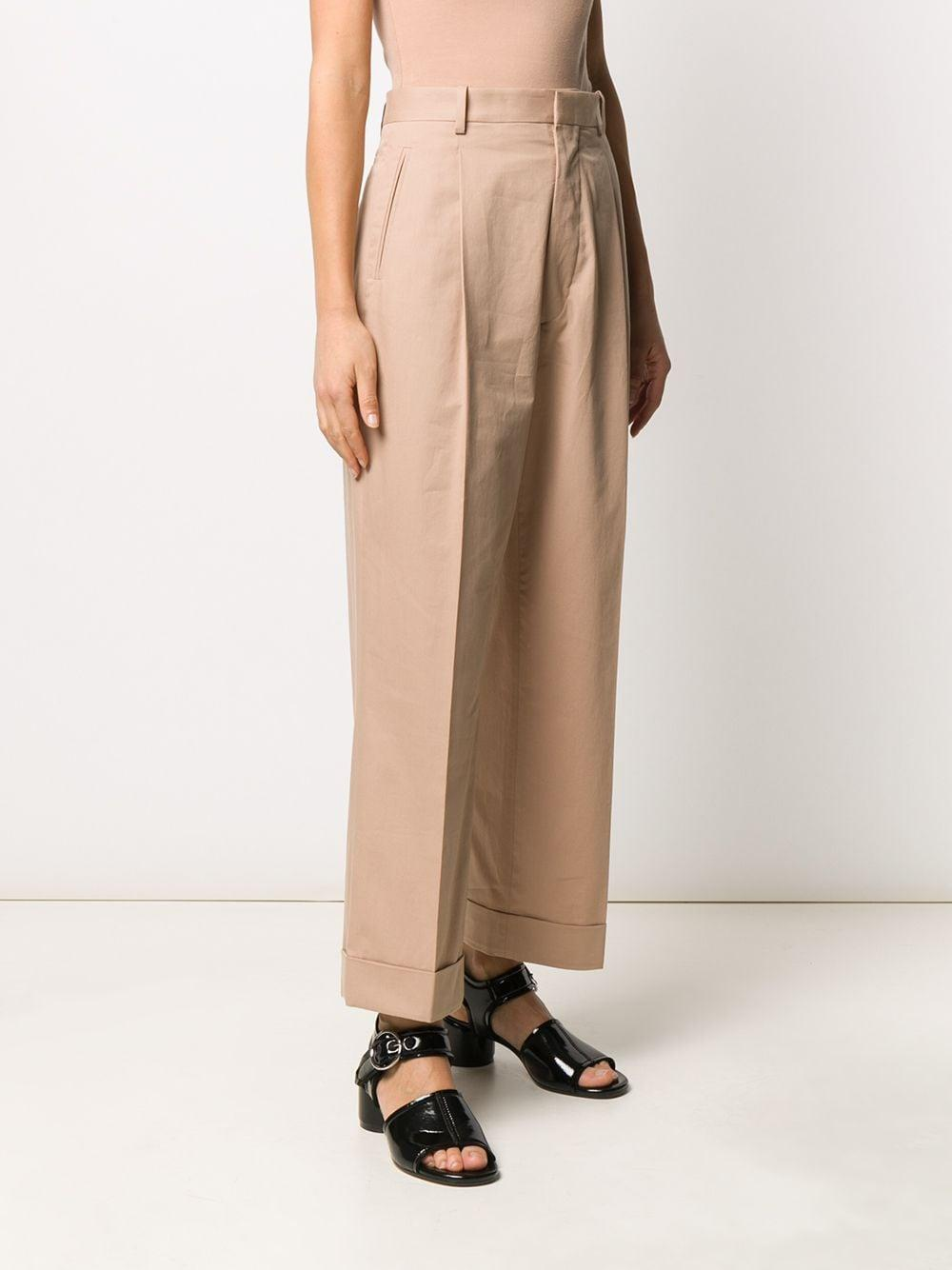 Pantalones capri de talle alto Maison Margiela de Algodón de color Neutro