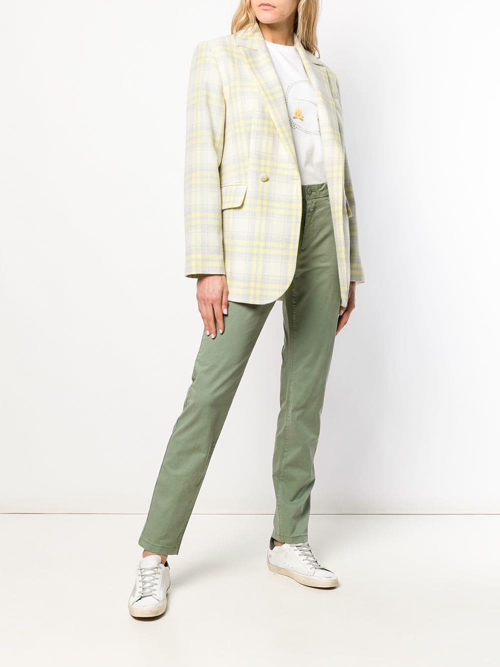 Pantalones slim Closed de Algodón de color Verde