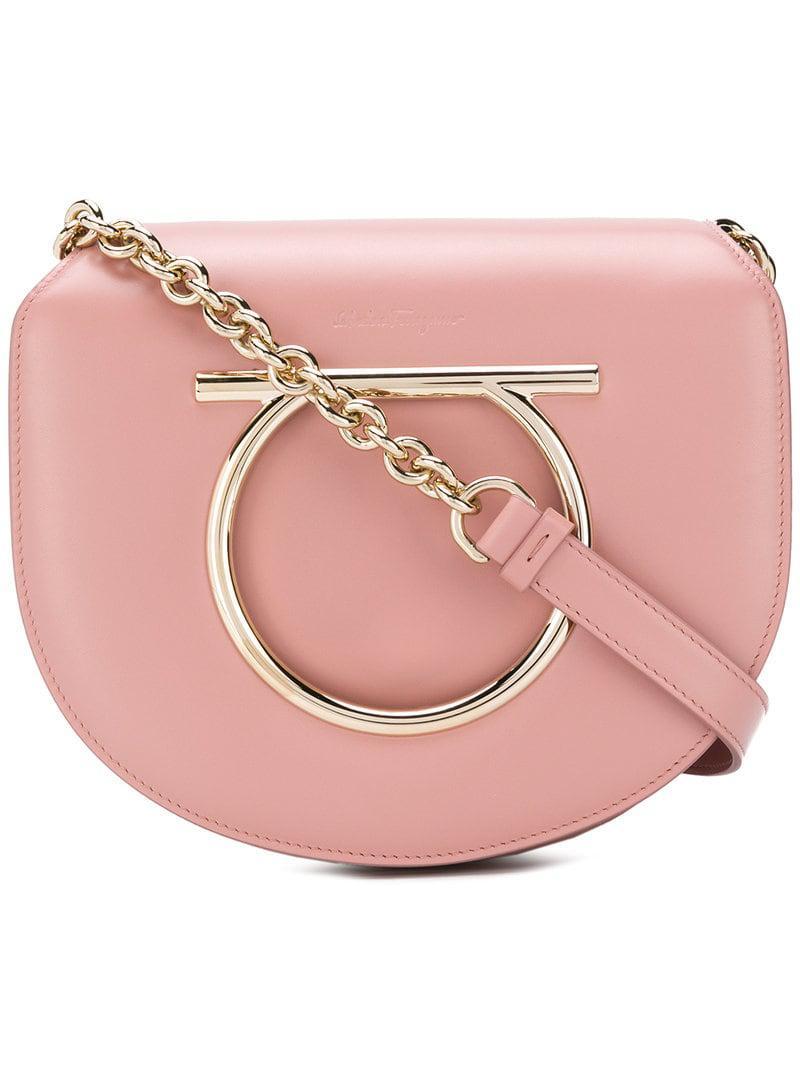 eb430a14a04 Ferragamo Gancini Flap Bag in Pink - Save 0.7888631090487195% - Lyst