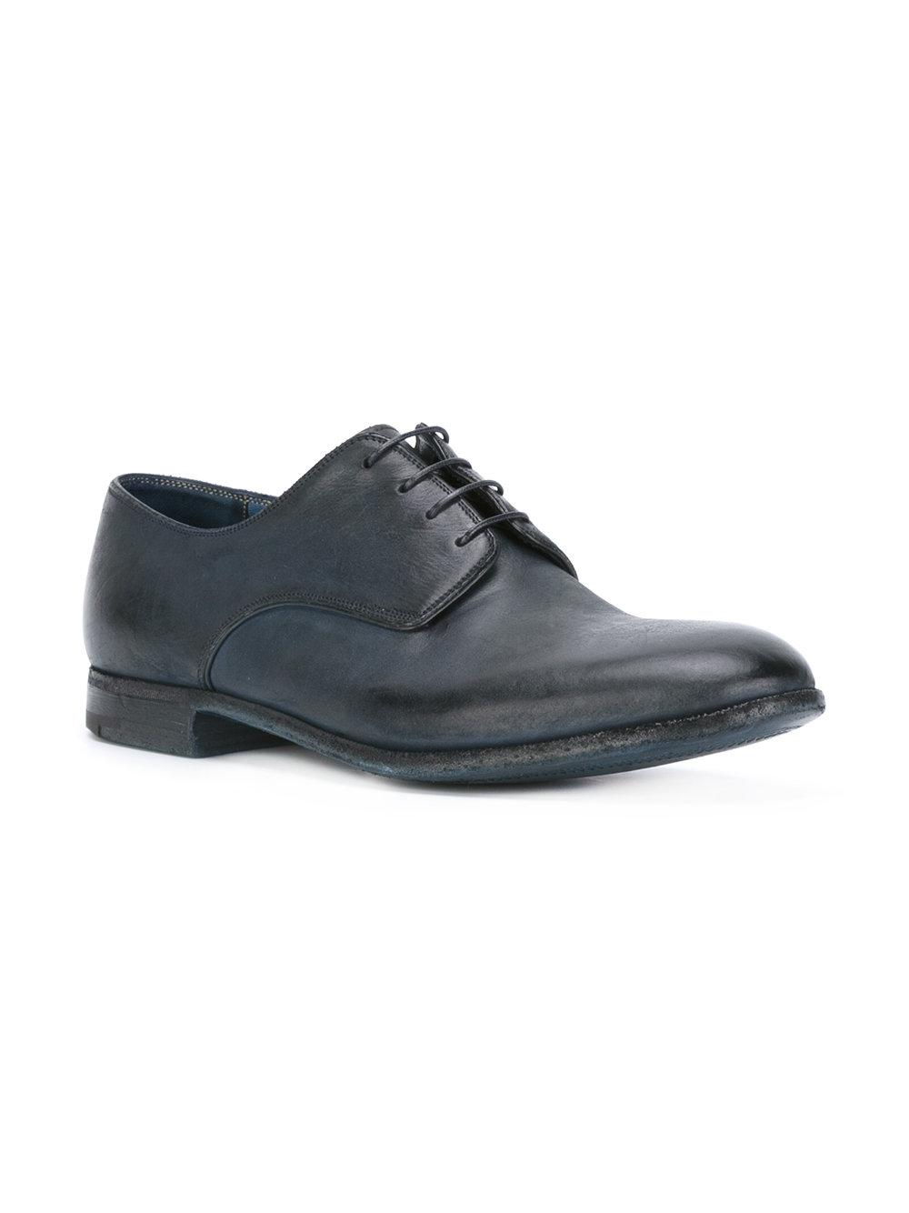 Premiata Leather Lace-up Shoes in Blue for Men