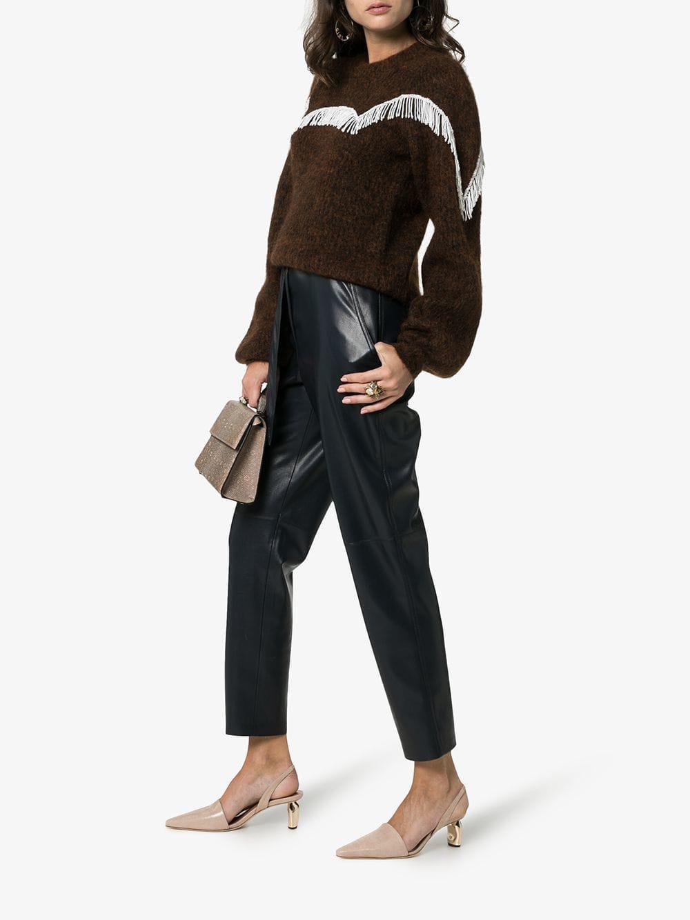 ca2eb0850b4 Lyst - Rejina Pyo Beige Connie 20 Metal Heel Leather Slingbacks - Save 7%