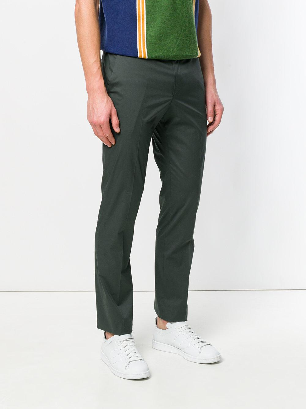 PS by Paul Smith Cotton Tailored Trousers in Green for Men