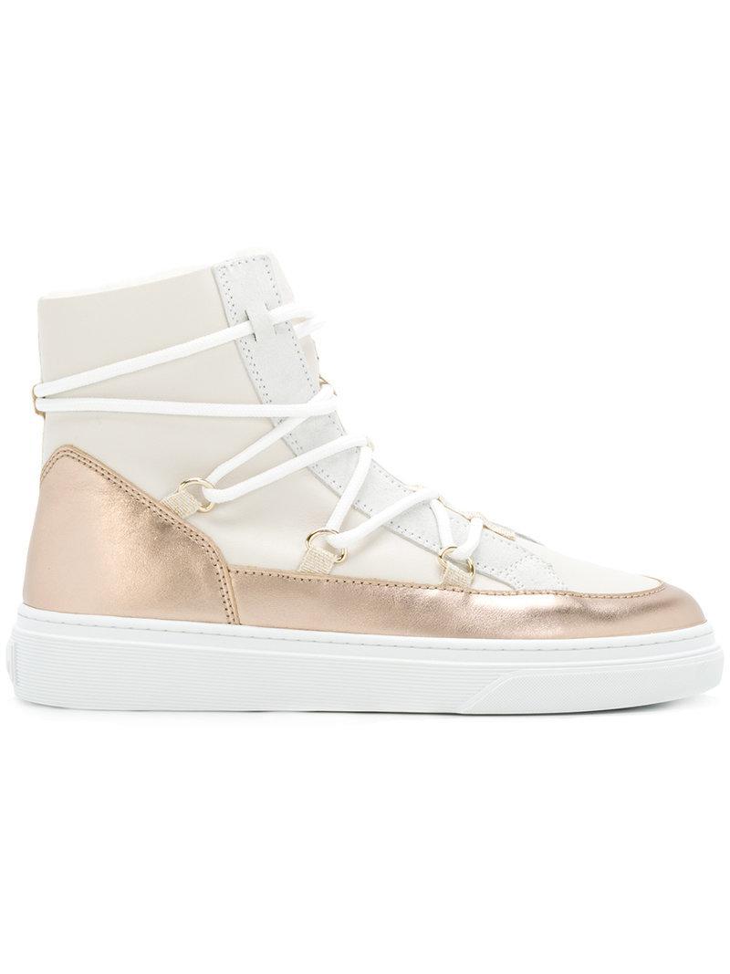 Hogan Metallic sneaker boots 9xdpao9gN