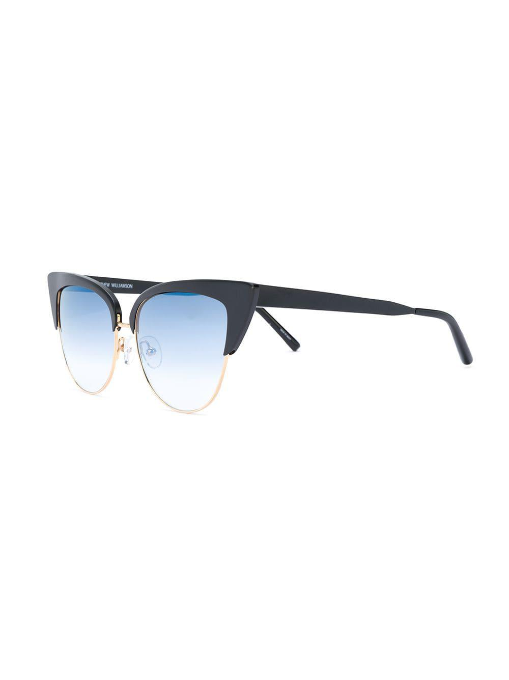 Matthew Williamson exaggerated Cat Eye Sunglasses in Black