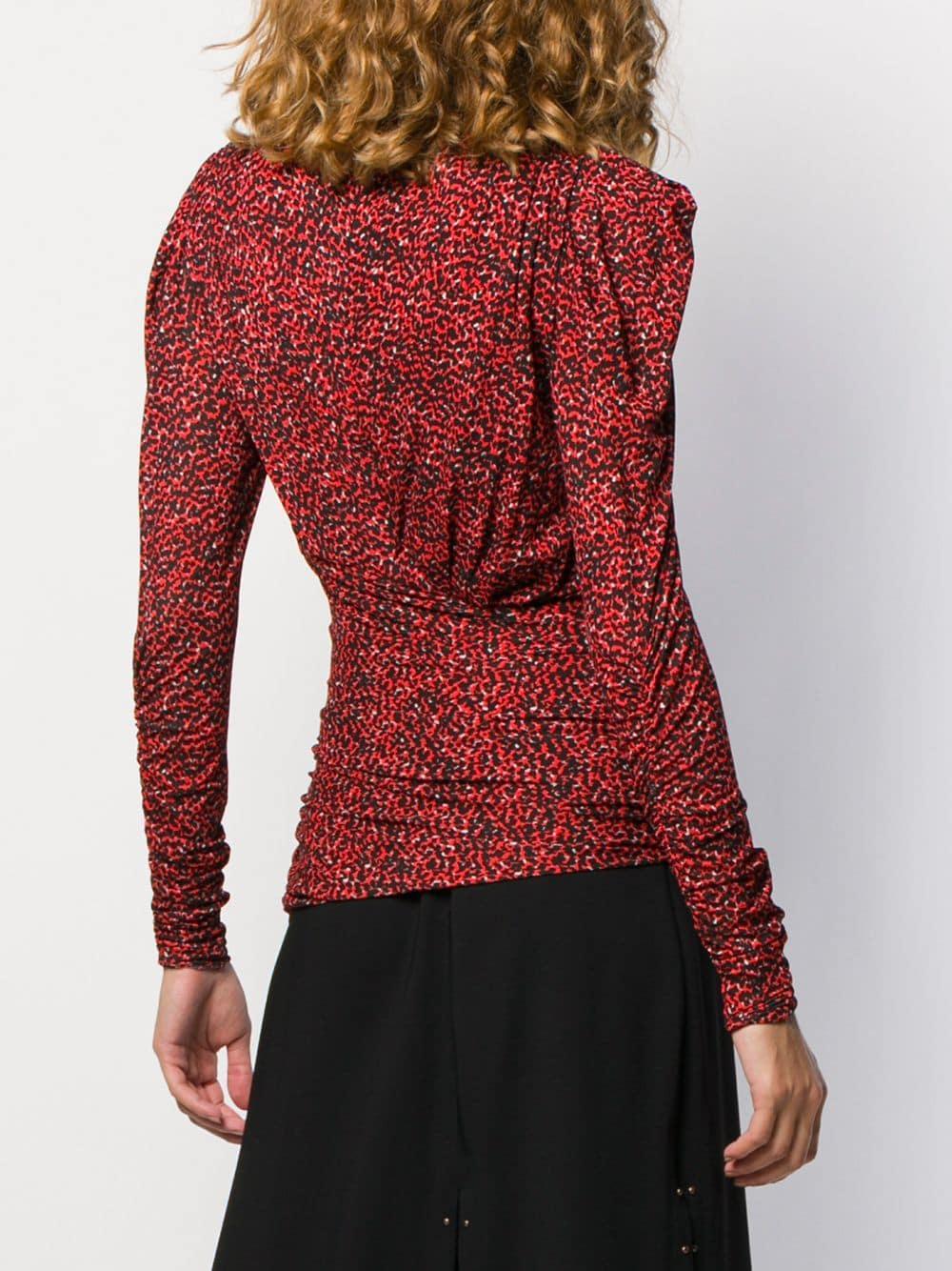 Top Jalford Synthétique Isabel Marant en coloris Rouge