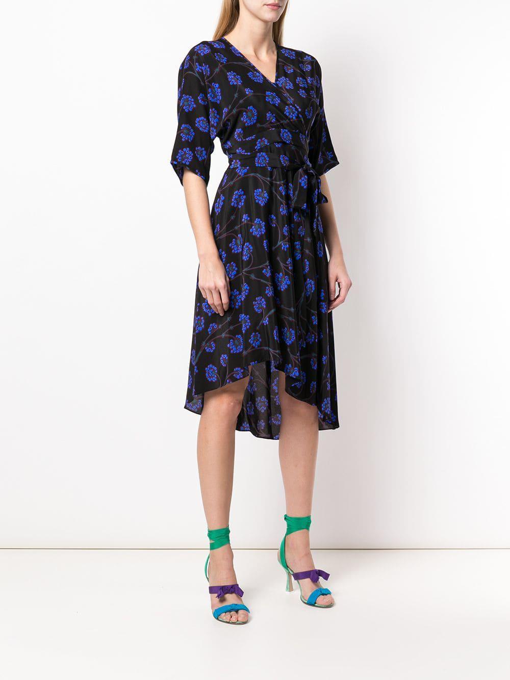 Lyst Diane Von Furstenberg Dragon Berry Wrap Dress In Black