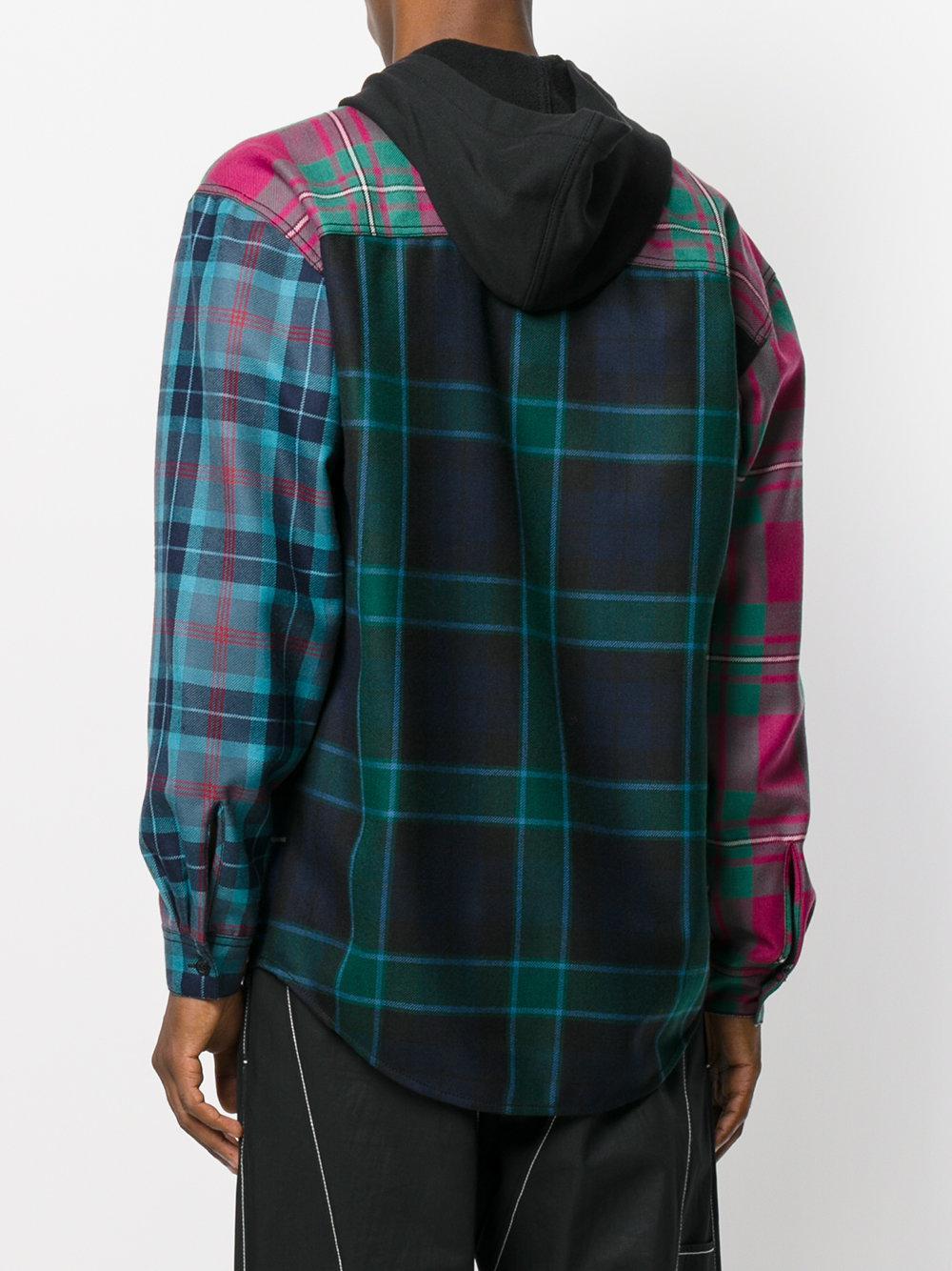 Alexander Wang Wool Hooded Tartan Shirt for Men