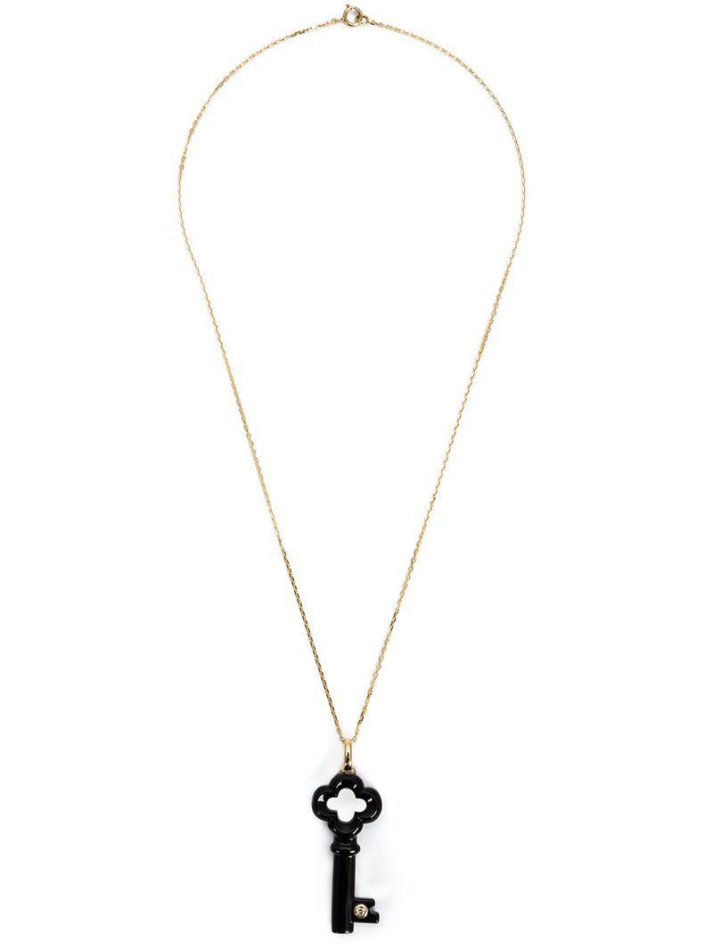 9b13d9702bf3 Collar de llave en forma de trébol con detalle de diamante Kristin ...