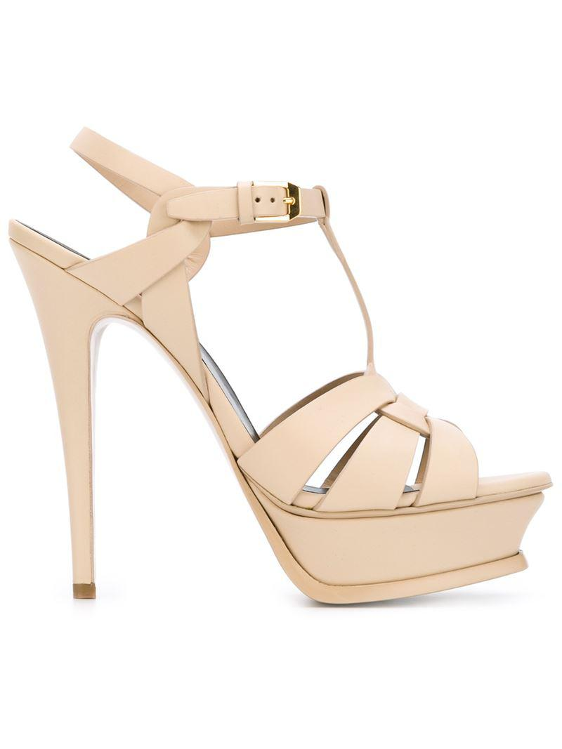 Tribute 105 sandals - Nude & Neutrals Saint Laurent iVZDpQnim