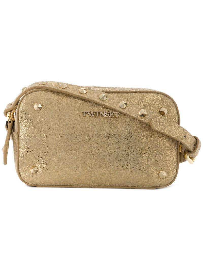 Clearance Sast Twin-Set metallic studded shoulder bag Manchester Clearance Official LgAy06E
