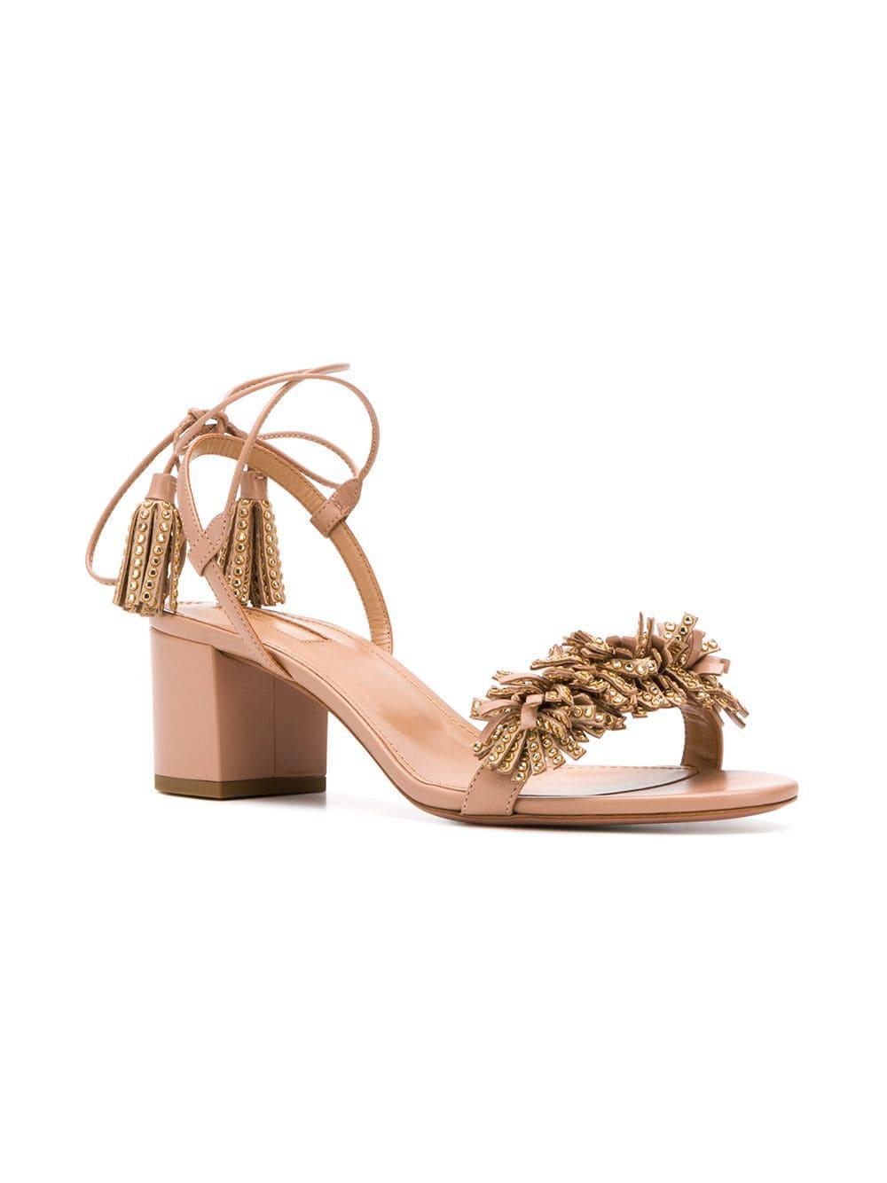 8a9f913a3 Lyst - Aquazzura Wild Crystal Sandals in Pink