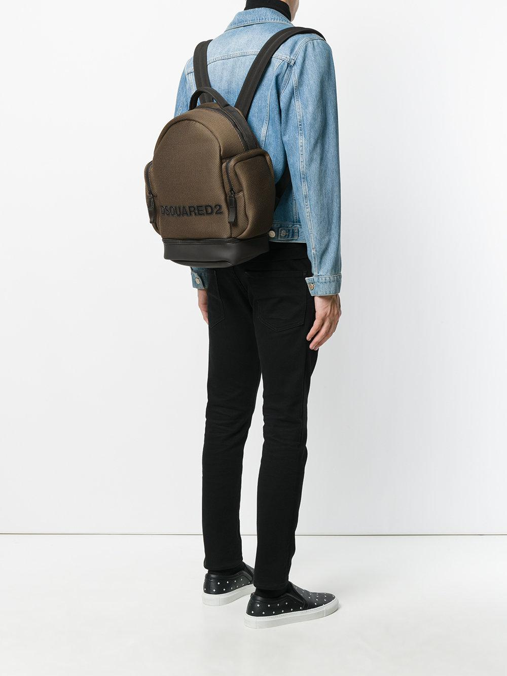 DSquared² Cotton Tom Backpack in Green for Men
