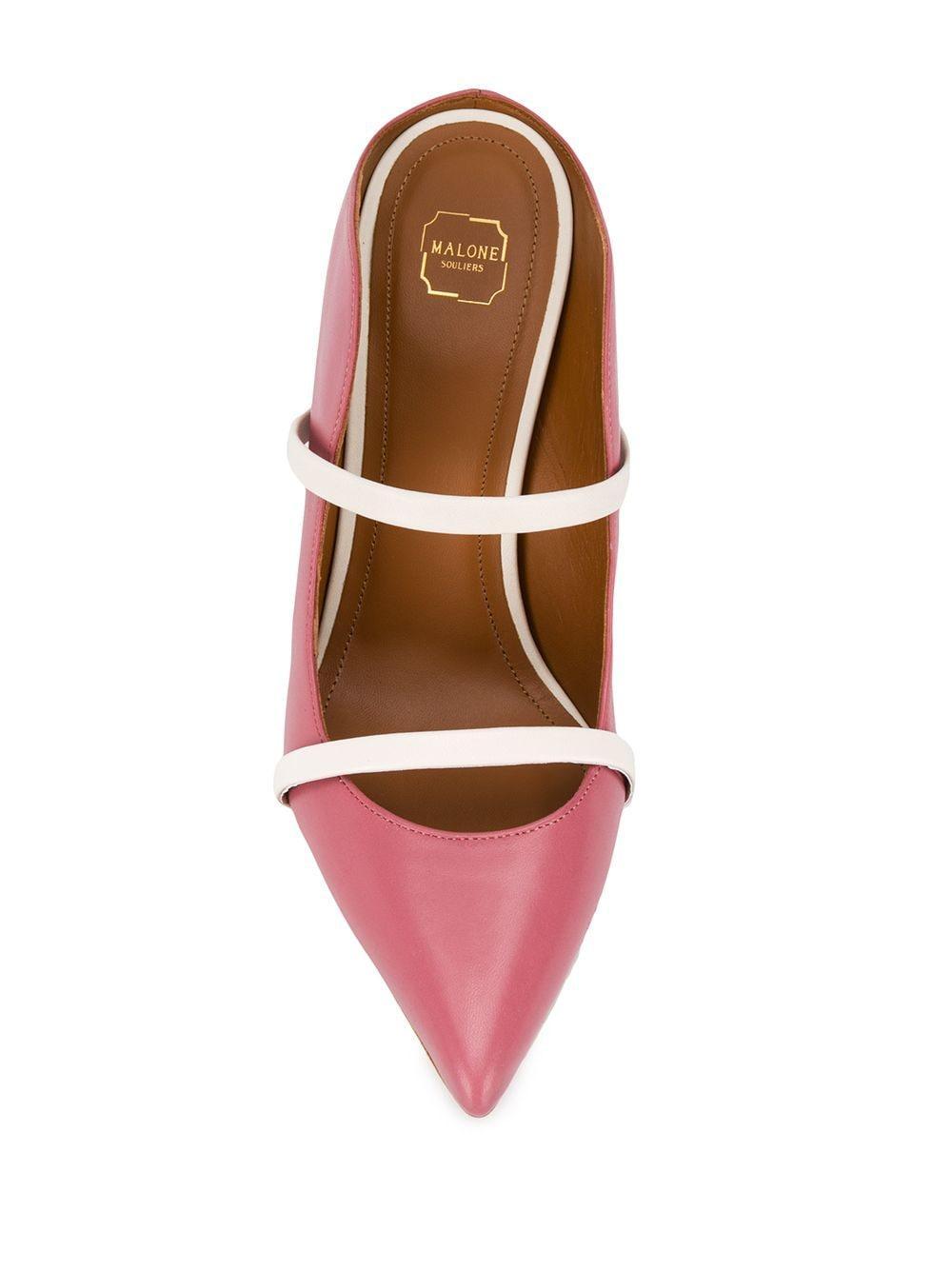 Zapatos de tacón Maureen con puntera en punta Malone Souliers de Cuero de color Rosa