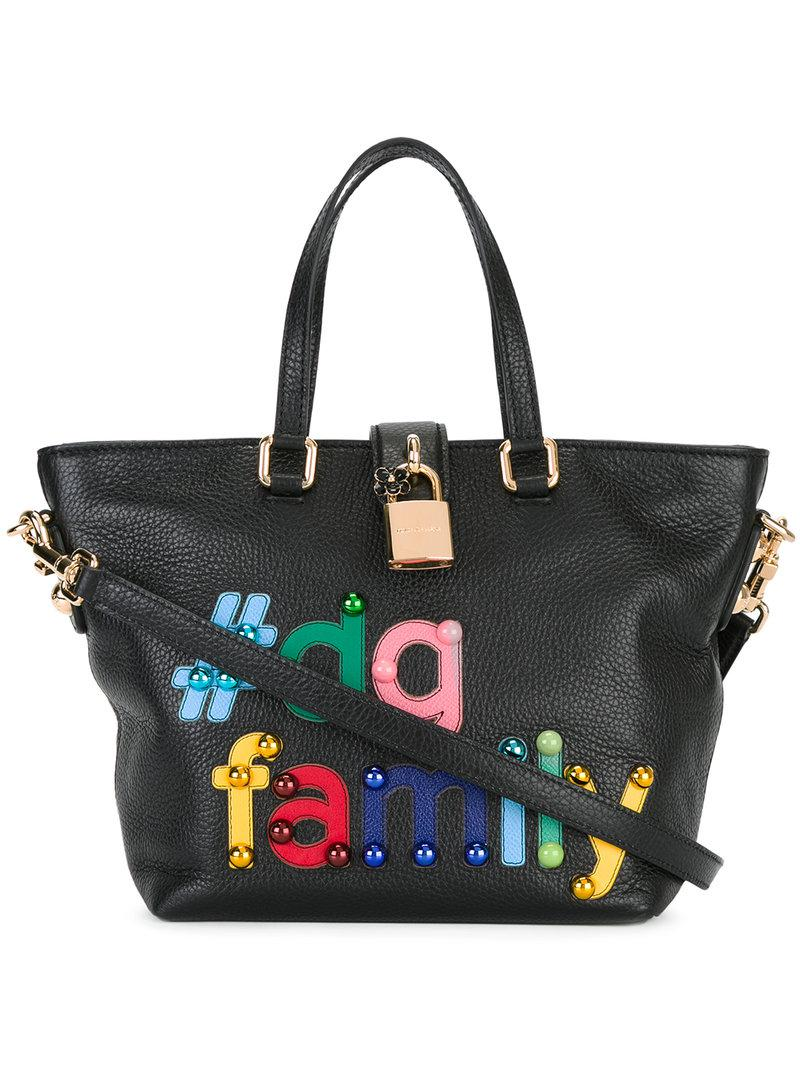 Lyst - Dolce   Gabbana  dg Family Patch Dolce Tote in Black 42acd69340276