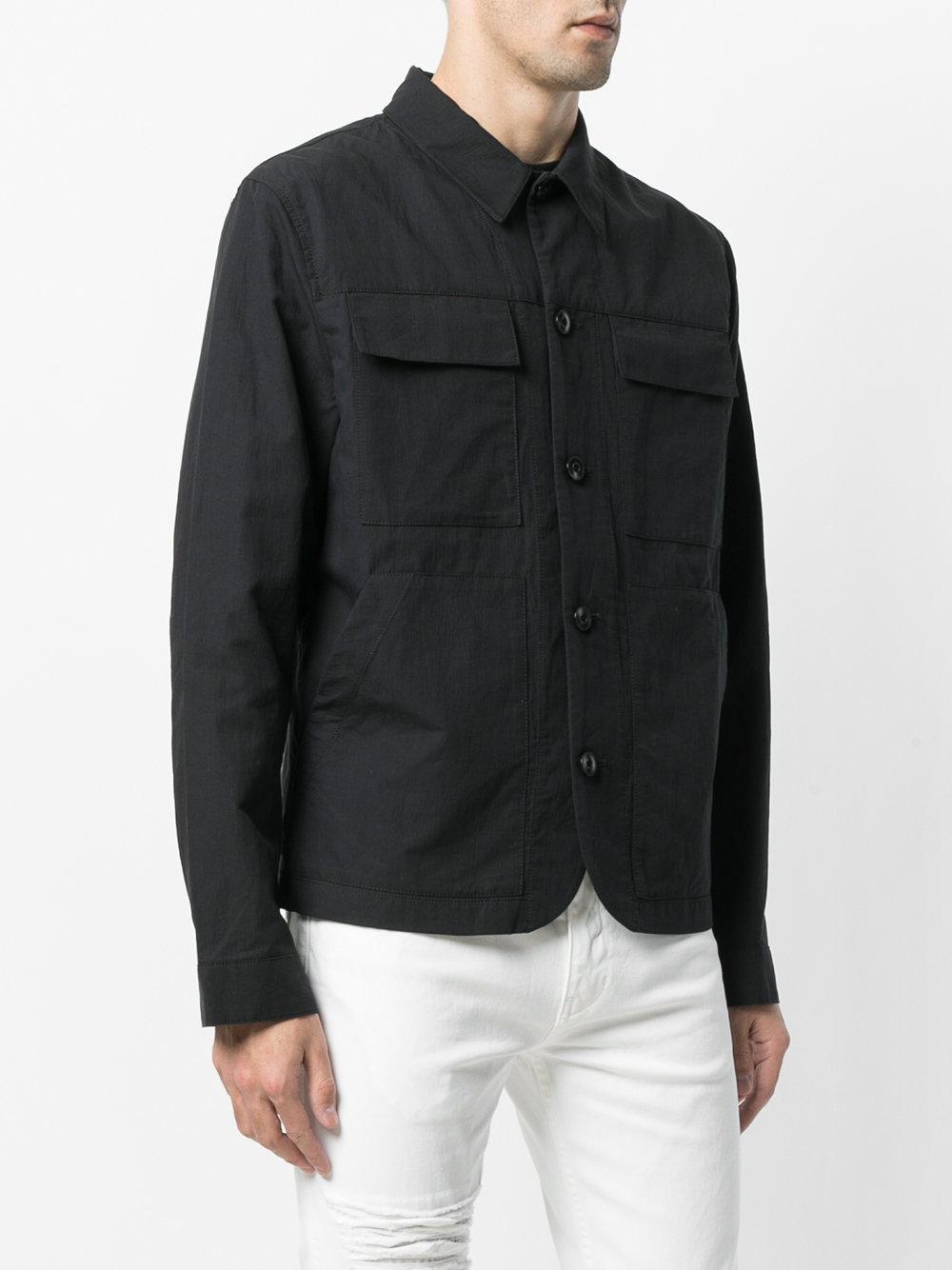 Helmut Lang Front Pocket Shirt Jacket In Black For Men Lyst