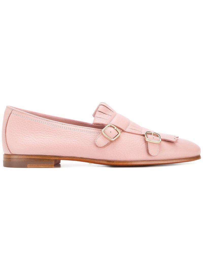 23d541840b2 Santoni - Pink Double-buckle Loafers - Lyst. View fullscreen