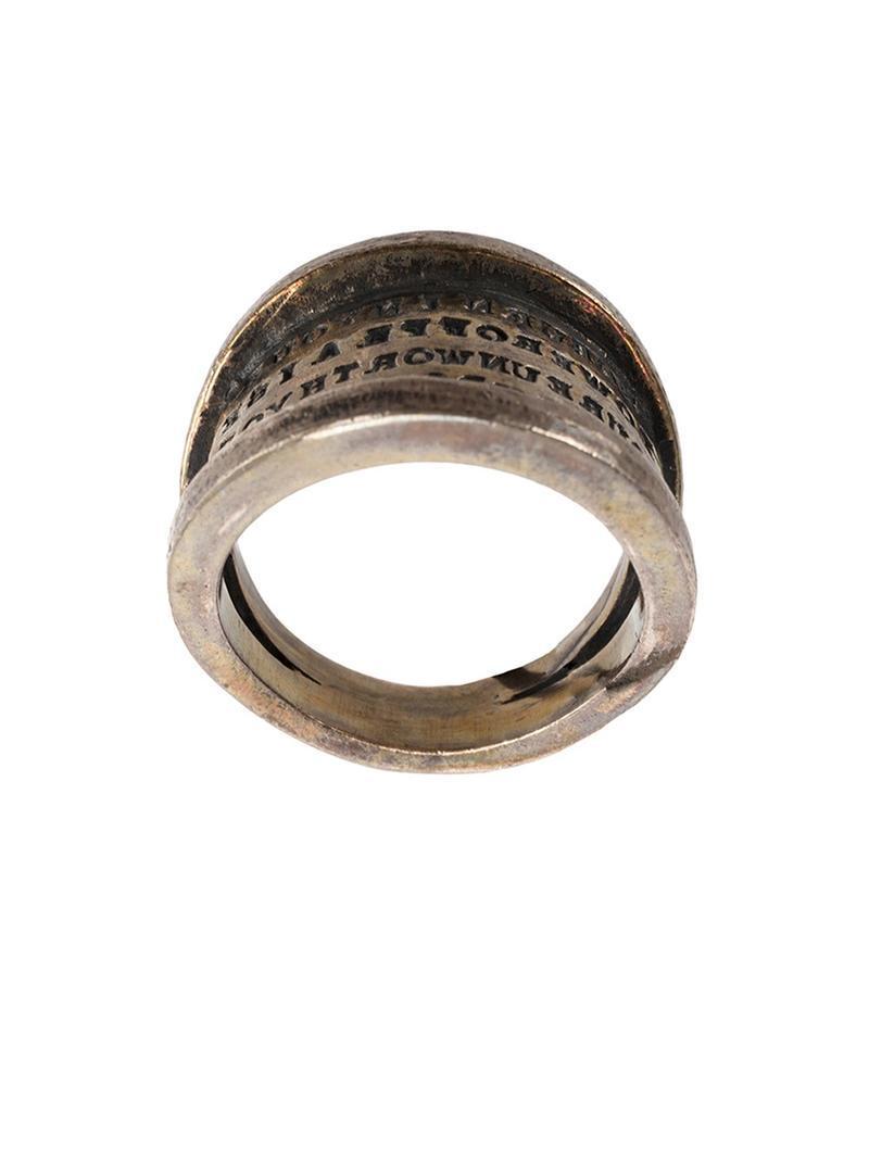 Tobias Wistisen Script Plate ring - Metallic c56ff