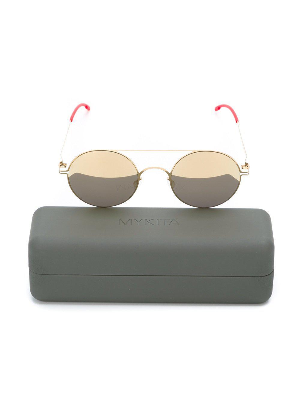 799d404974 Gafas de sol con montura redonda Mykita de hombre de color Metálico ...