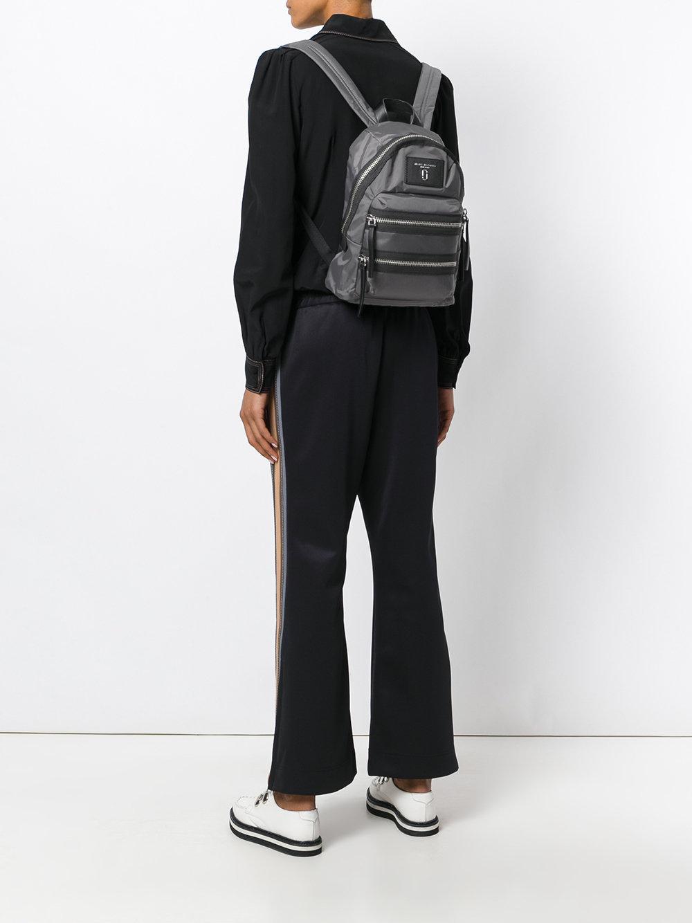 Marc Jacobs Leather Biker Mini Backpack in Grey (Grey)