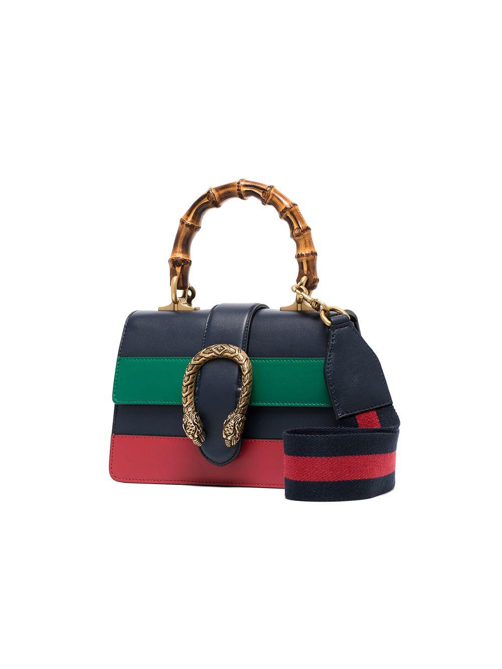 4b49cb879298 Gucci - Blue Green And Red Dionysus Mini Top Handle Bag - Lyst. View  fullscreen