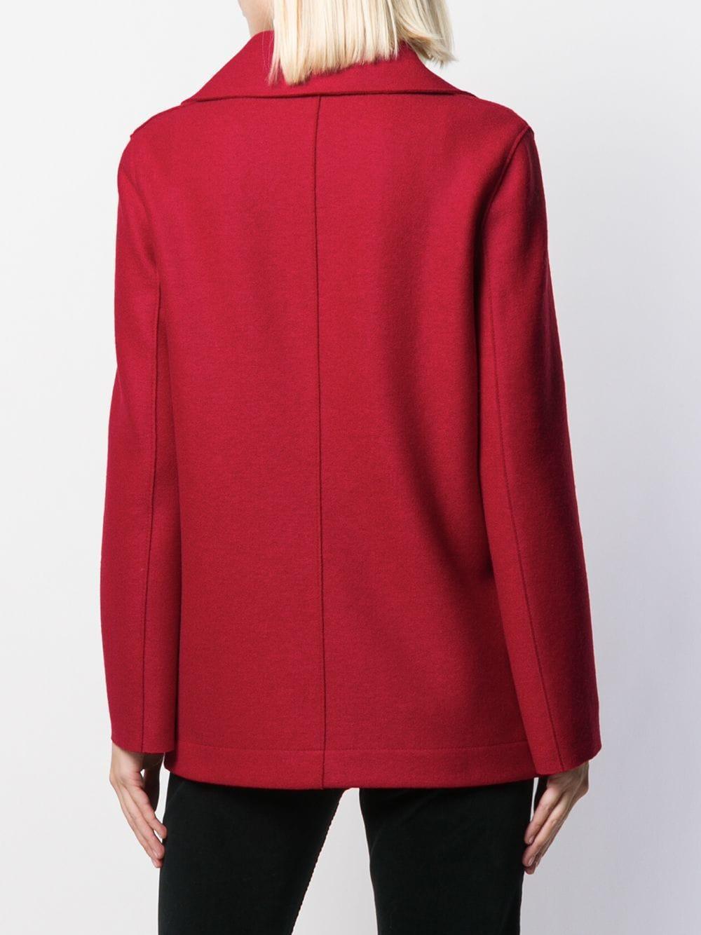 Manteau à boutonnière croisée Laines Harris Wharf London en coloris Rouge wEOZS