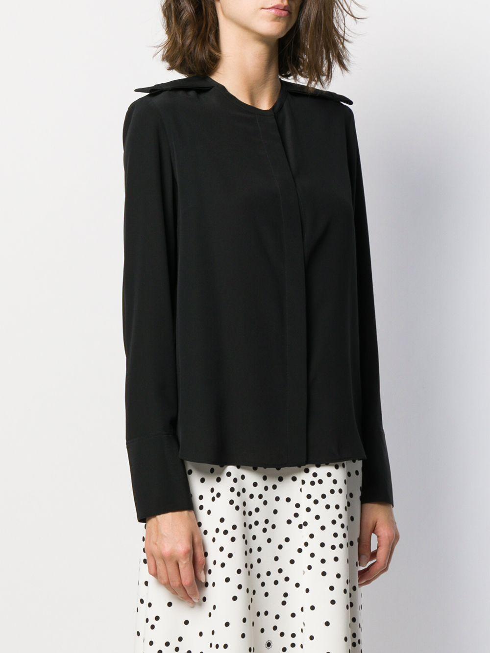 Blouse à épaules structurées Soie Stella McCartney en coloris Noir