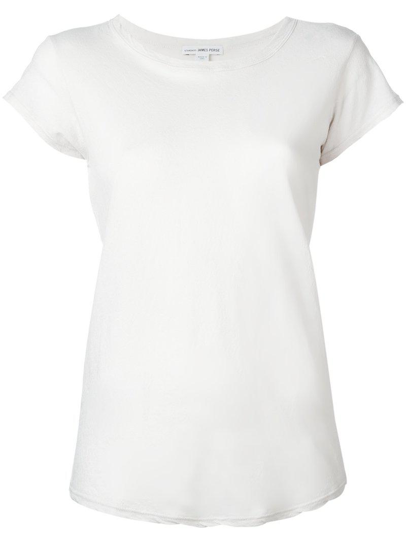 Lyst james perse plain t shirt in gray for James perse t shirts sale