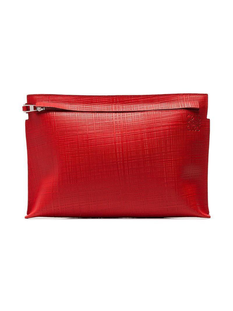descuento más bajo nueva estilos venta al por mayor Bolso de mano de piel Loewe de color Red
