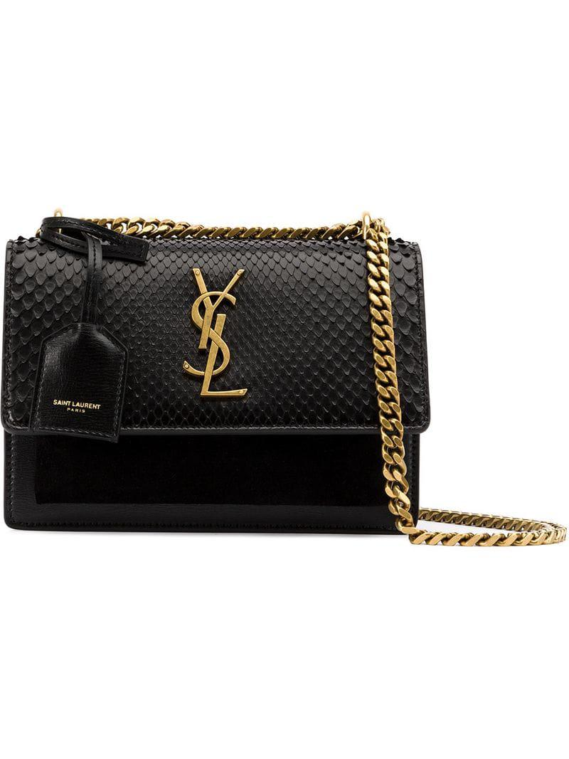 Saint Laurent - Black Sunset Shoulder Bag - Lyst. View fullscreen 3c96429bfa5d7